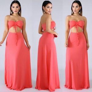Dresses & Skirts - Coral Maxi Skirt Set